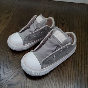 Converse Light Grey Sneakers Size Infant 7